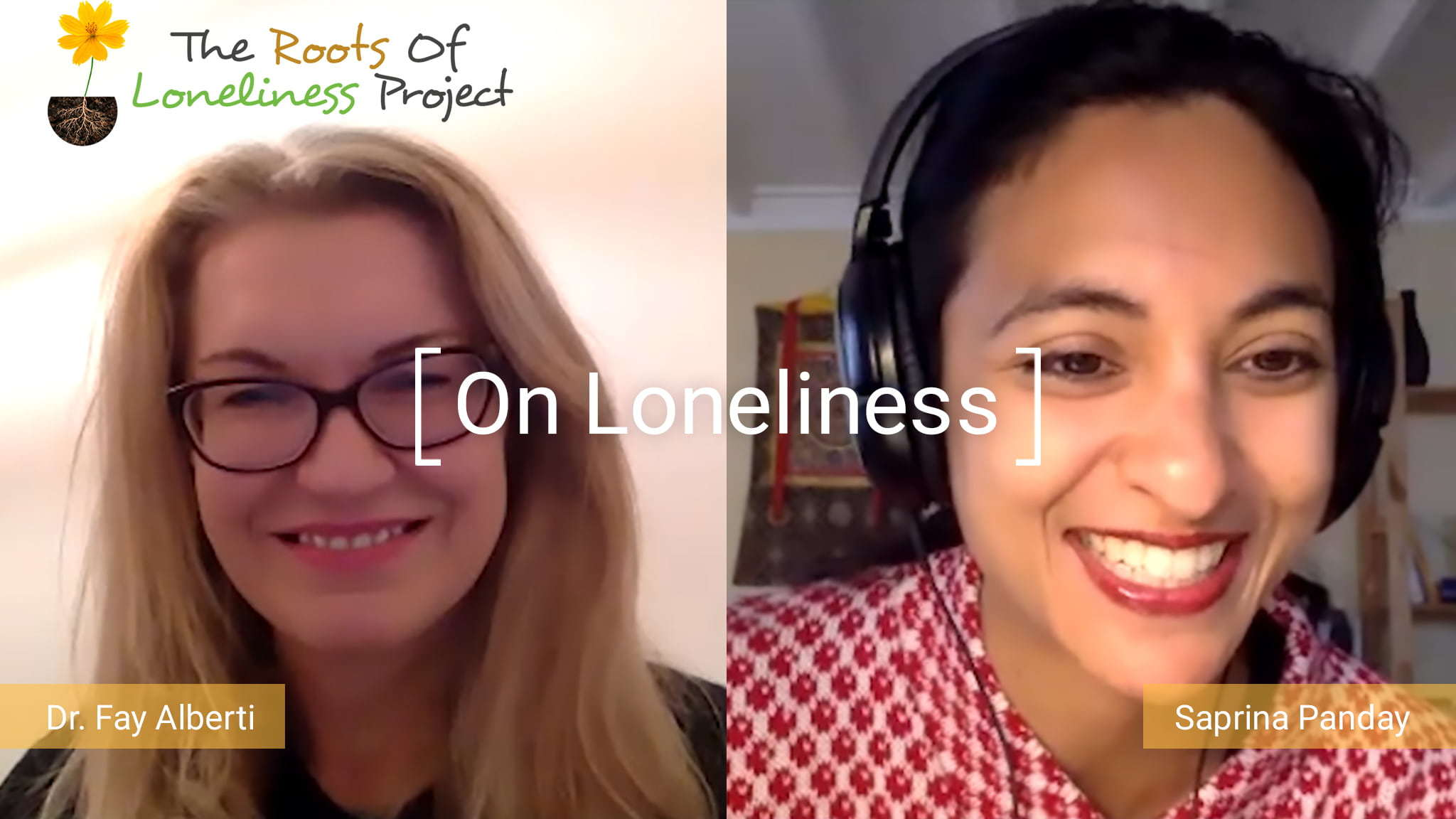 Screenshot Of A Video Interview With Dr. Fay Alberti And Saprina Panday For Women's Health Interactive Discussing The Topic Of Loneliness