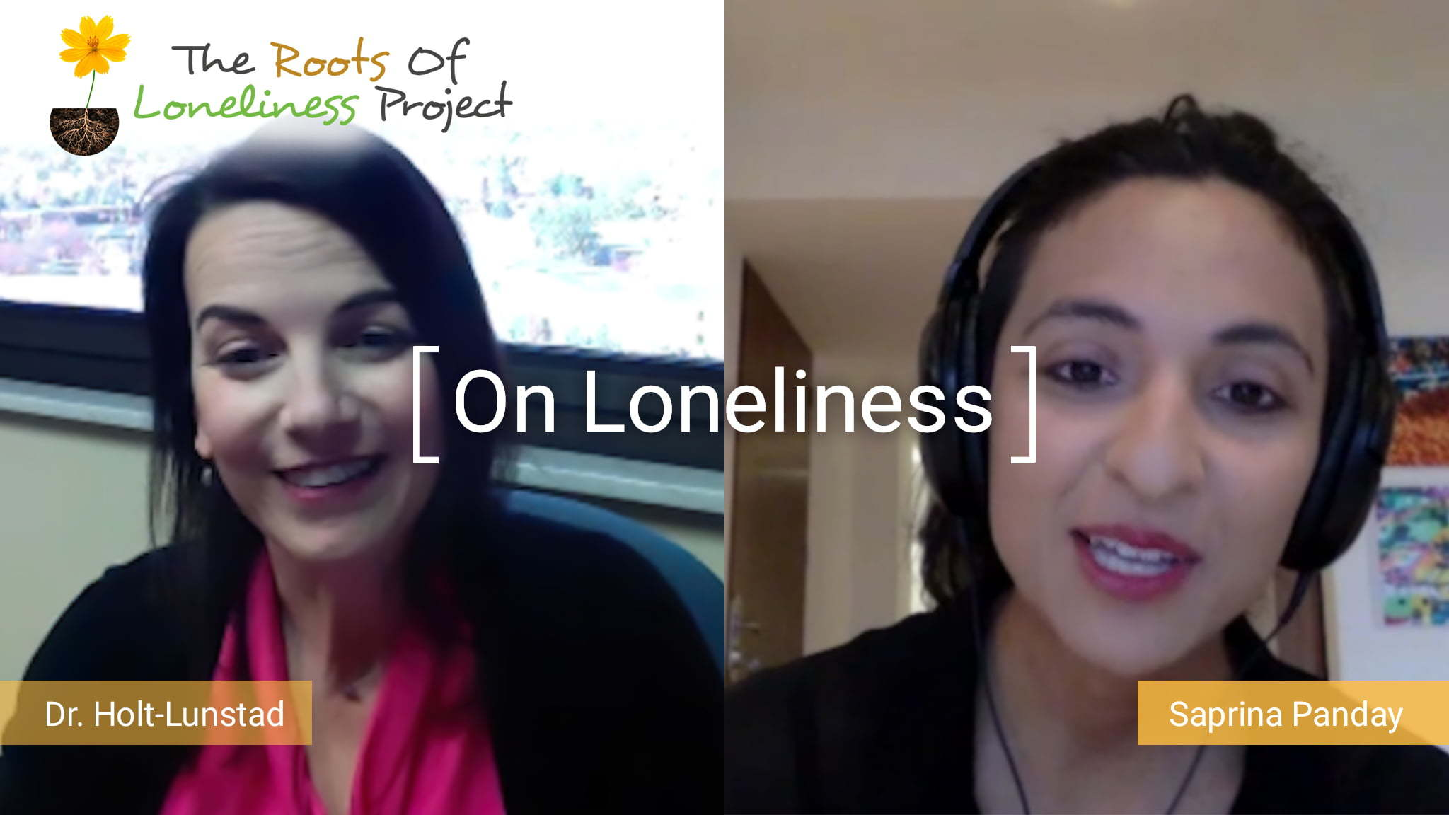 Screenshot Of A Video Interview With Dr. Holt-Lunstad And Saprina Panday For Women's Health Interactive Discussing The Topic Of Loneliness