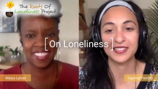 Screenshot Of A Video Interview With Maiya Lanae And Saprina Panday For Women's Health Interactive Discussing The Topic Of Loneliness