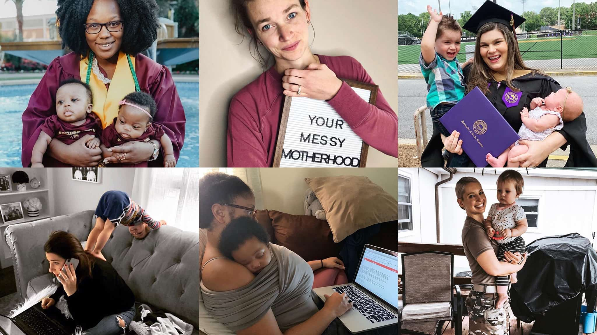 Montage Of 6 Different Career Women Who Have Embraced Mom Guilt