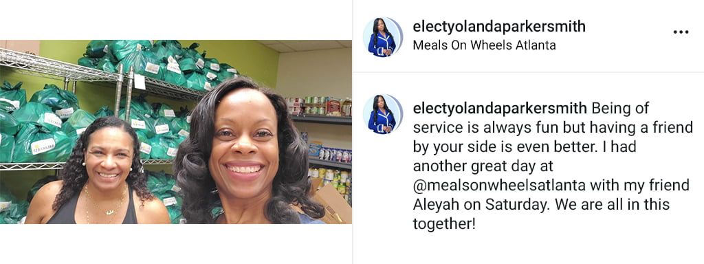 Social Media Post About Volunteering With Meals On Wheels In Atlanta